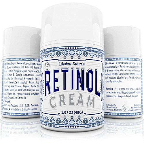 Retinol Cream Moisturizer for Face and Eyes, Use Day and